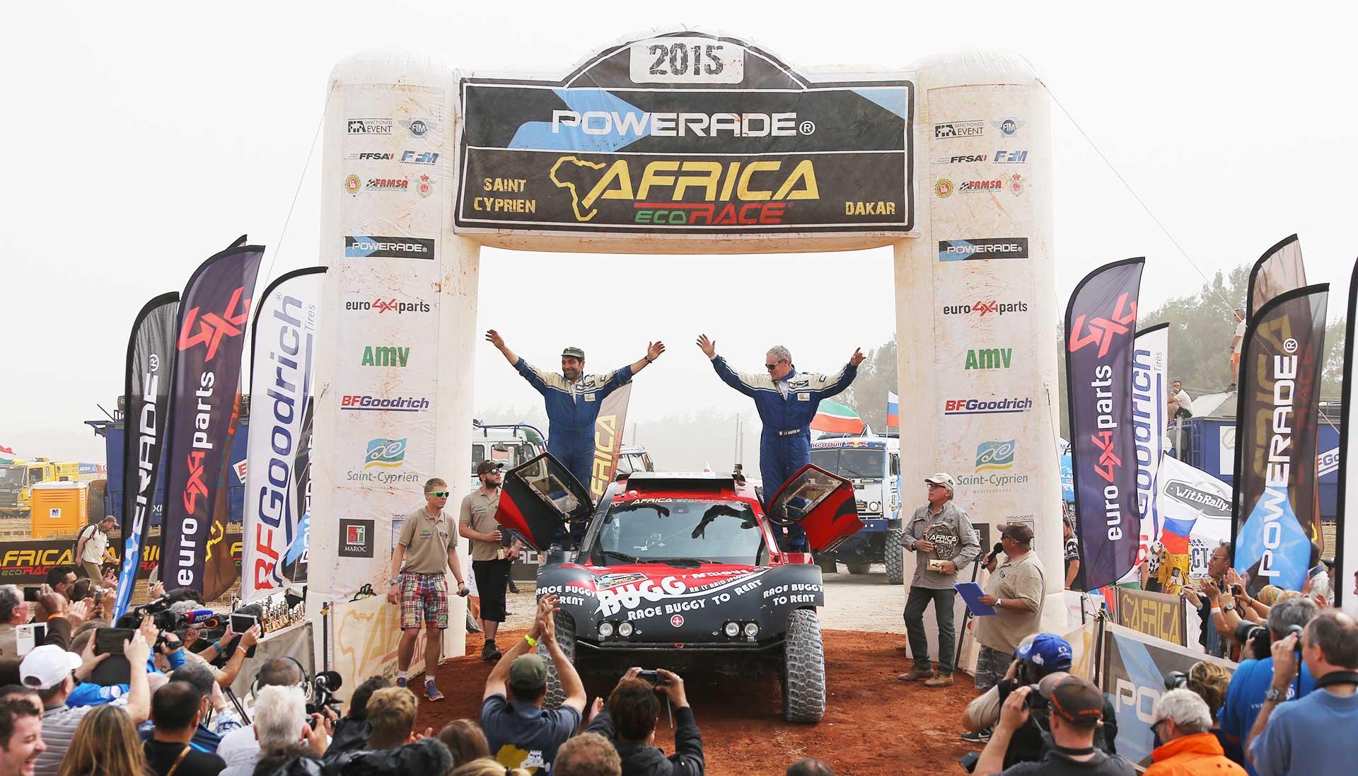 BUGG'AFRIQUE est sur la première marche du podium de l'Africa Eco Race 2015 !