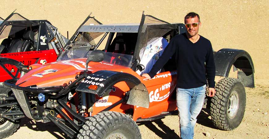 Sébastien LOEB en visite chez BUGG'AFRIQUE