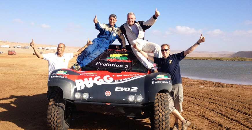 team BUGG'AFRIQUE sur le Libya rally 2014